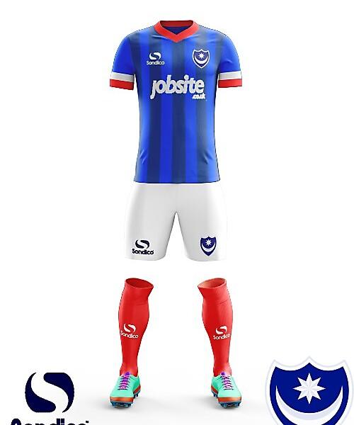 Portsmouth FC Home kit 2018