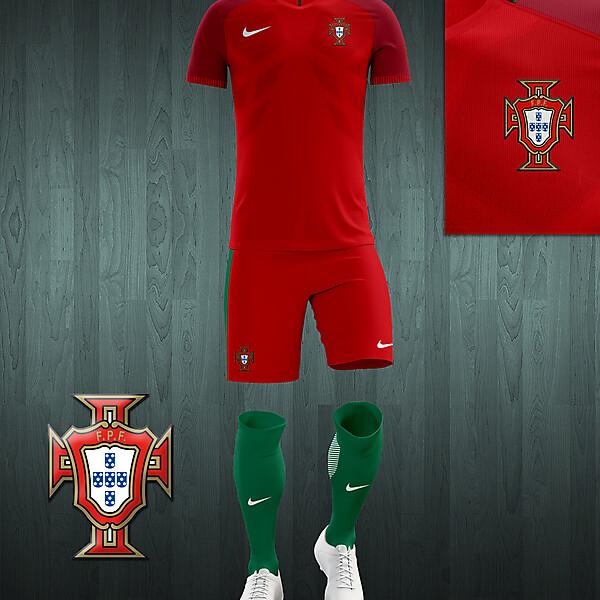 Portugal UEFA Euro 2016 home kit