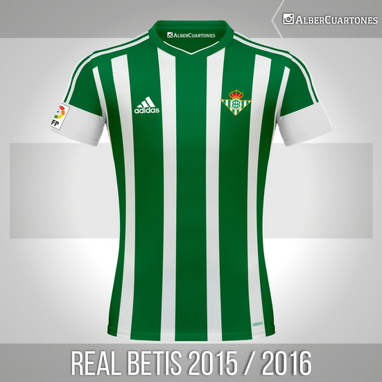 Real Betis 2015 / 2016 Home Shirt (according to leaks)