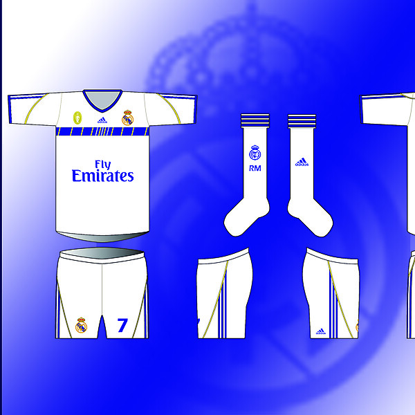REAL MADRID- Home Kit By Adidas