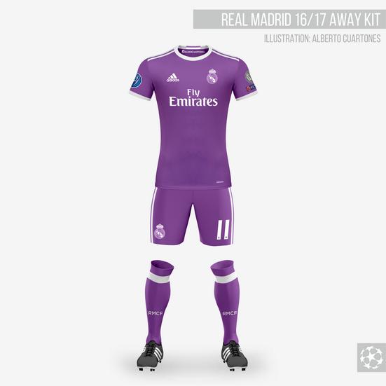 Real Madrid 16/17 Away Kit