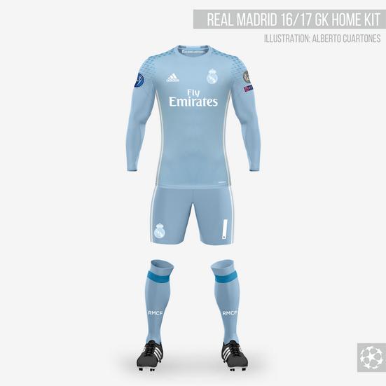 Real Madrid 16/17 Goalkeeper Home Kit