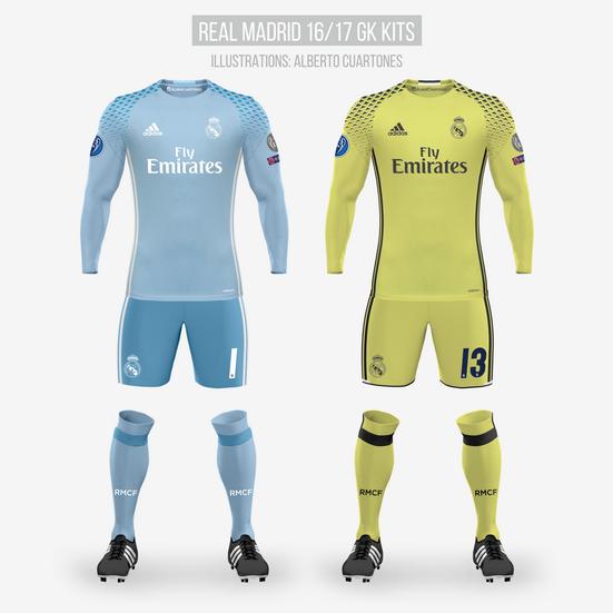 Real Madrid 16/17 Goalkeeper Kits