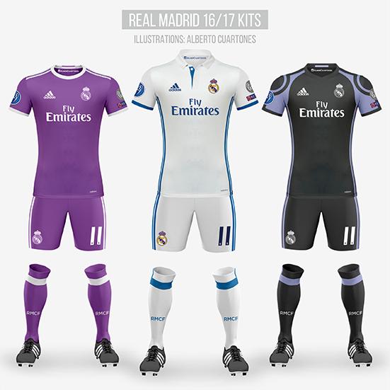 Real Madrid 16/17 Kits
