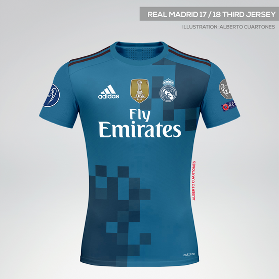 Real Madrid 17/18 Third Jersey