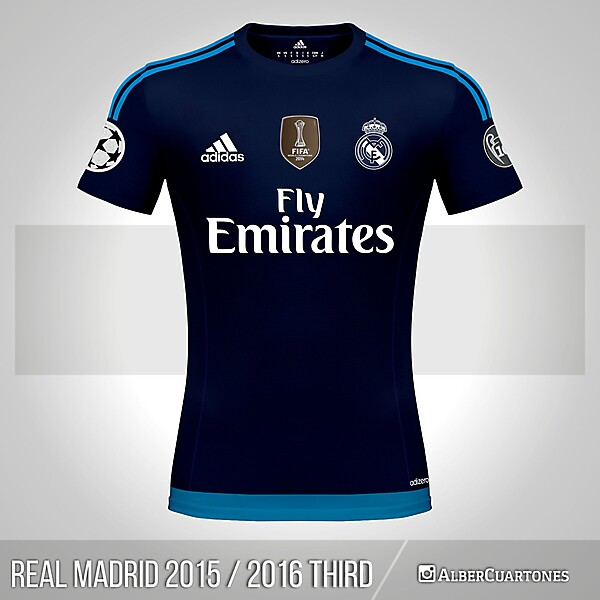Real Madrid 2015 / 2016 Third Shirt (according to leaks)