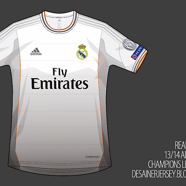 Real Madrid CF 13/14 Adidas Home Shirt (Champions League)