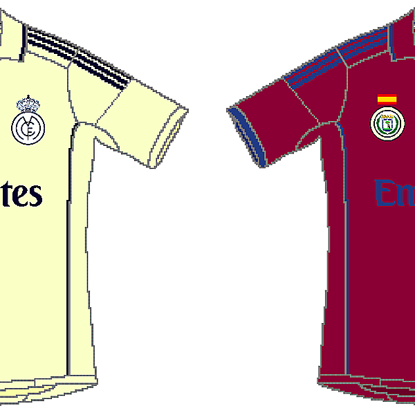 Real Madrid Adidas CL Home and Away
