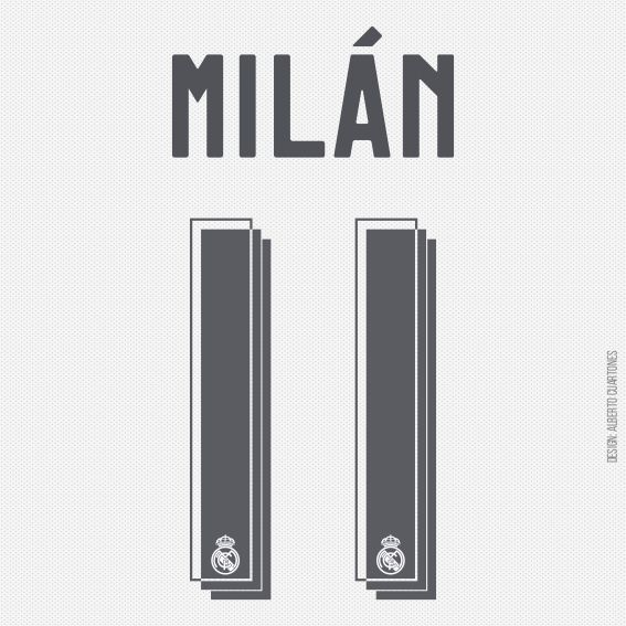 Real Madrid Milán 11 Printing