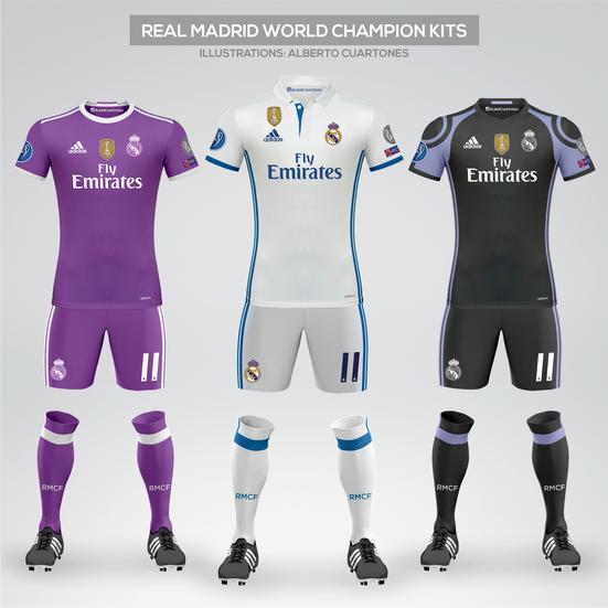 Real Madrid World Champions Kits