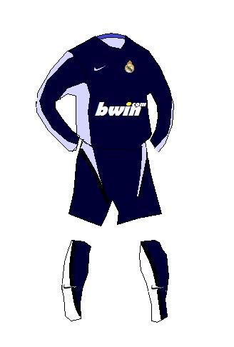 Real Madrid Nike away kit (paint)