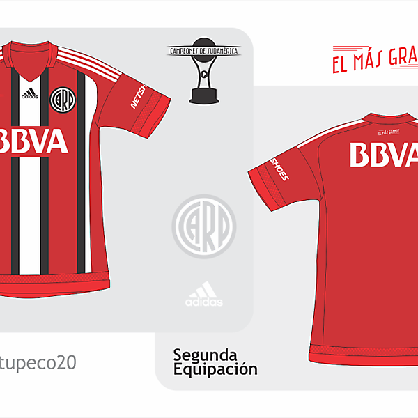 River Plate away kit 2015/2016