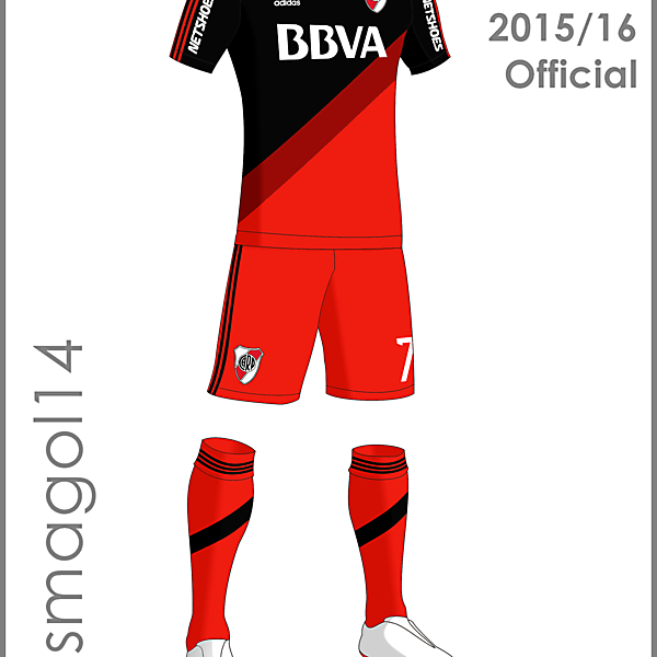 River Plate Official 3rd Kit 2015/16