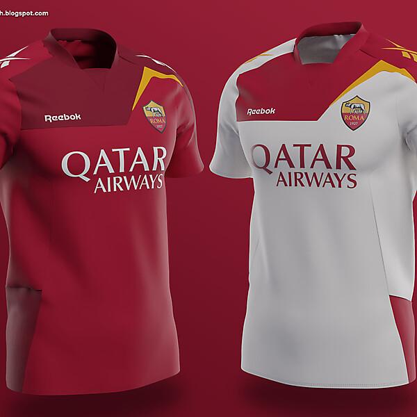 Roma × Reebok   Home and Away shirts