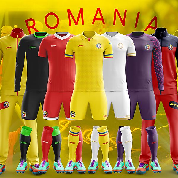 Romania x Joma - 2017-18 kits