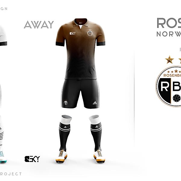 Rosenborg Away & Home + My logo on T-Shirt