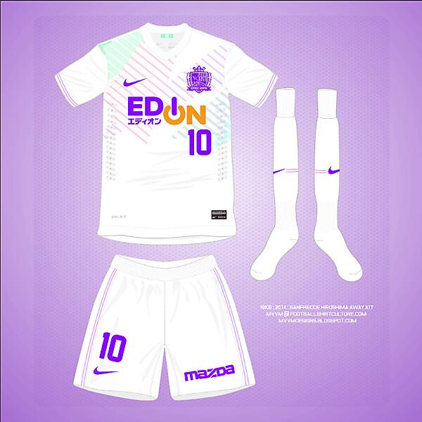 Nike : Sanfrecce Hiroshima  : 2014 Away Kit