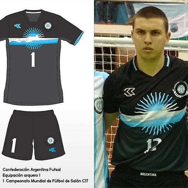 Selección Argentina Futsal. C17 AMF World Cup GK kit