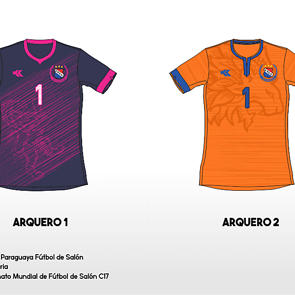 Selección Paraguaya Futsal. C17 AMF World Cup GK kits