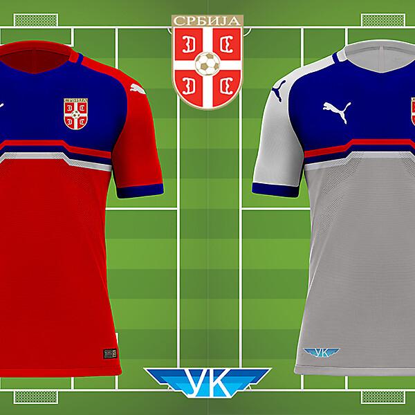 Serbia Home Away Kit