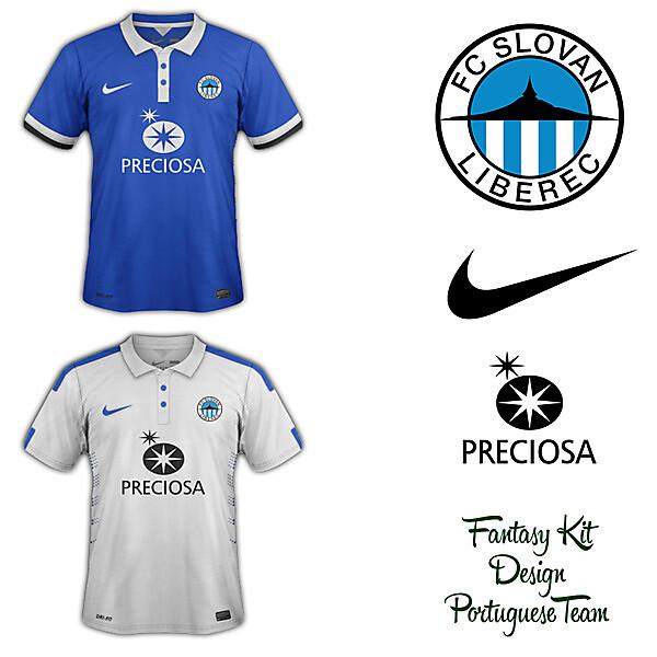 Slovan Liberec Home and Away Fantasy Kit 2014/2015