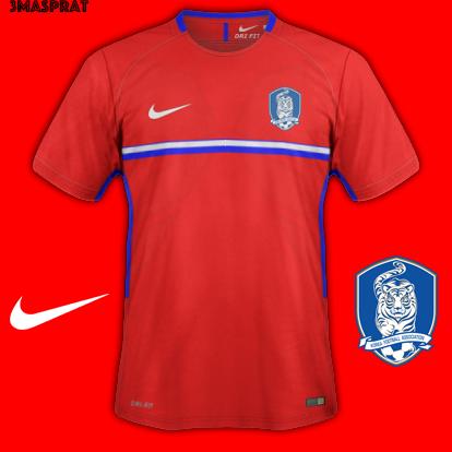 South Korea World Cup Home Kit