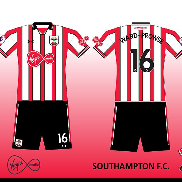 Southampton FC Home Kit 2019/2020 Retro V.1