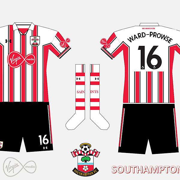 Southampton FC Home Kit 2019/2020 Retro V.2