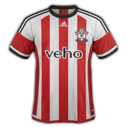 Southampton Home kit 2015/16 season with Adidas