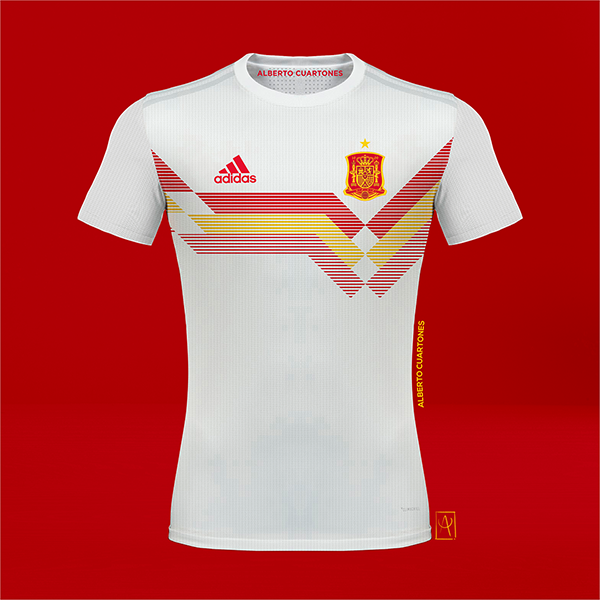 Spain adidas 70th anniversary Concept Jersey