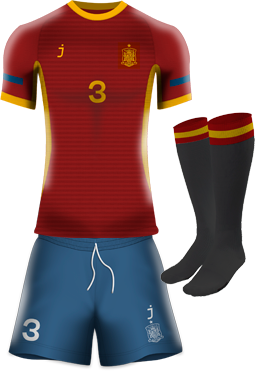 Spain home kit by J-sports