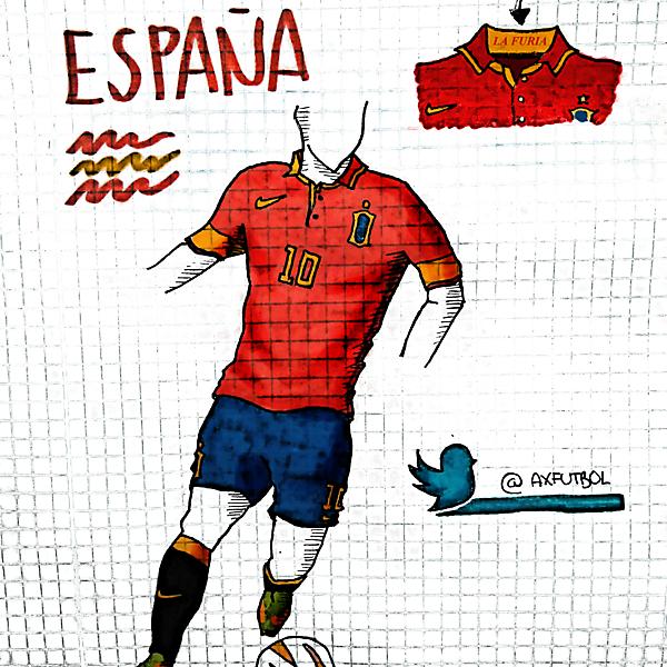 Spain National Football Team nike kit.