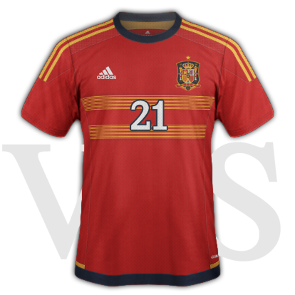 Spain National Home kit for 2015/16 Euro Qualifiers with Adidas