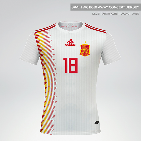 Spain World Cup 2018 Away Concept Jersey