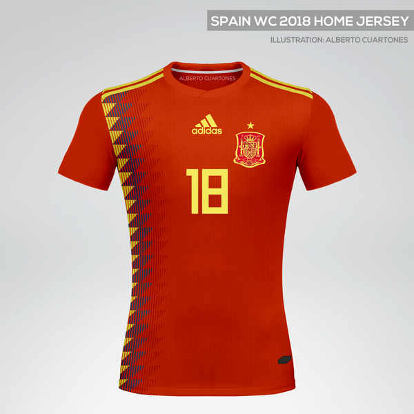 Spain World Cup 2018 Home Jersey