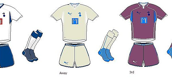 Totenham Hotspur Home, Away and Thrid Kits