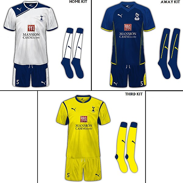 Tottenham Hotspur FC Set Of Fanatasy Kits