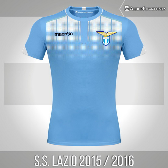 S.S. Lazio 2015 / 2016 Home<br />Shirt (according to leaks)