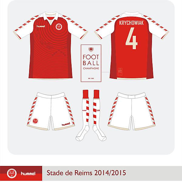 Stade de Reims Hummel Home kit 2014/2015
