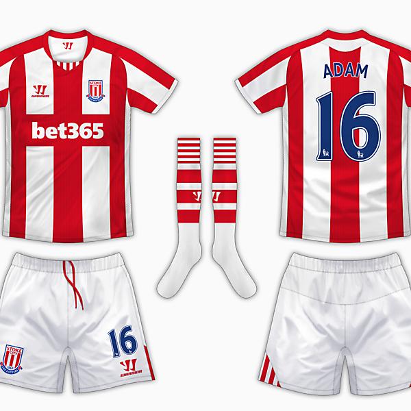 Stoke City Home Kit - Warrior