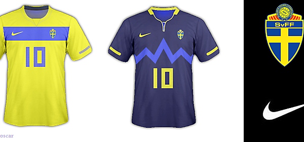Sweden National Football Team - Nike Home and Away