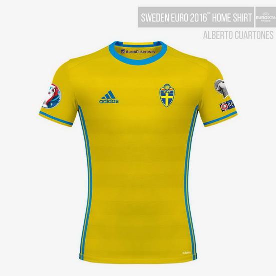 Sweden UEFA EURO 2016™ Home Shirt