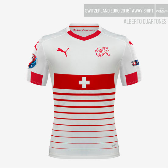 Switzerland UEFA EURO 2016™ Away Shirt