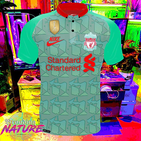 Teal green nike LFC third kit concept