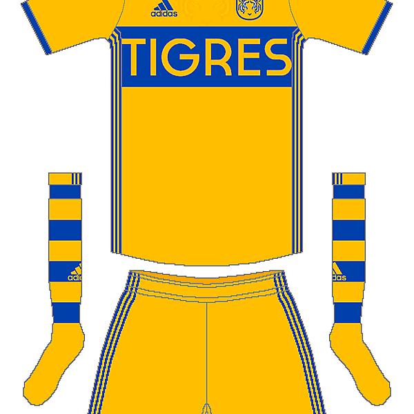 Tigres UANL Adidas Home Kit