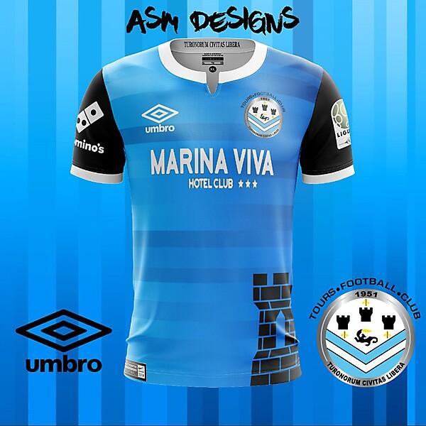 Tours FC 2018 Umbro Home Kit