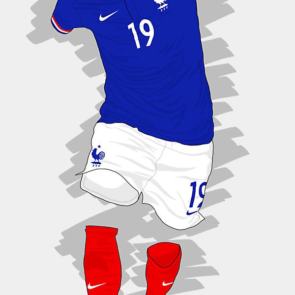 UEFA EURO 2016 - France Home Kit