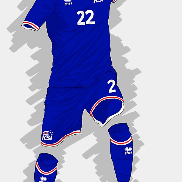 UEFA EURO 2016 - Iceland Home Kit
