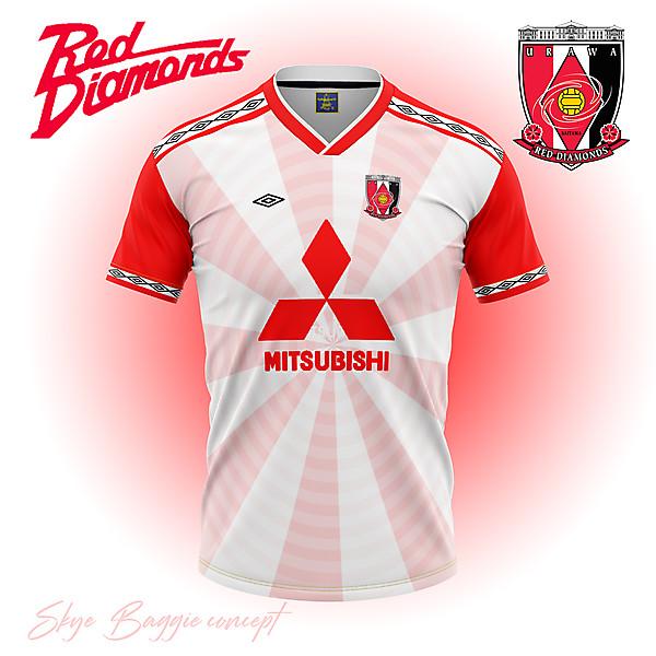 Urawa Red Diamonds away flag concept kit