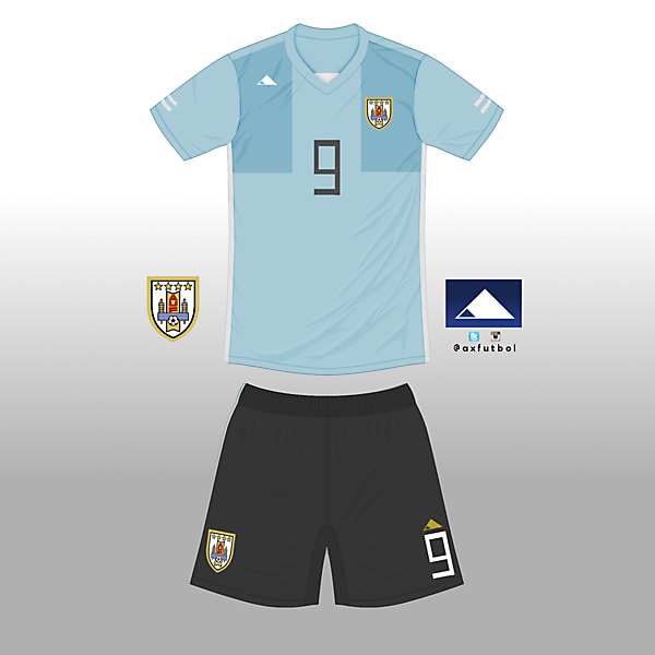 Uruguay Football Team kit's design